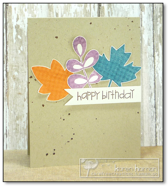 by karen @ carefree creations - Birthday Leaves