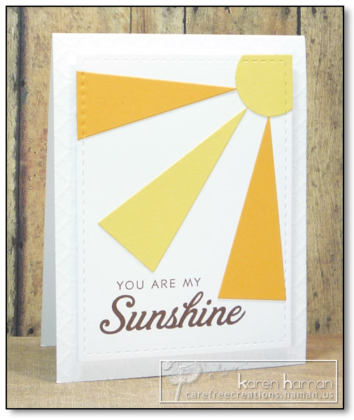 by karen @ carefree creations - My Sunshine