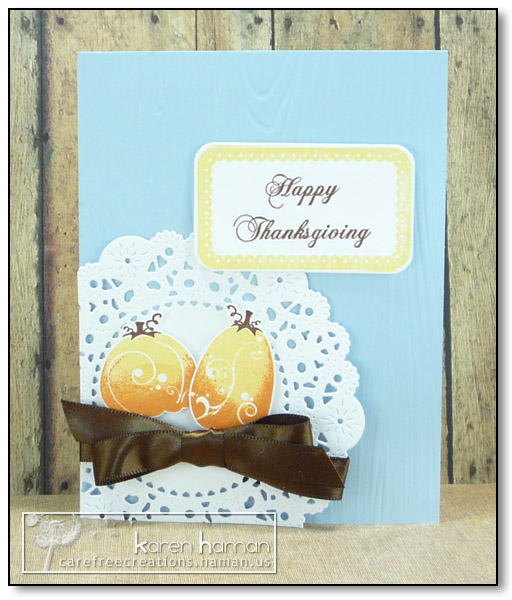 by karen @ carefree creations - Thanksgiving Pumpkins