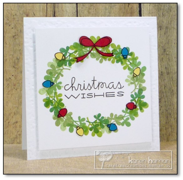 by karen @ carefree creations - Christmas Wreath