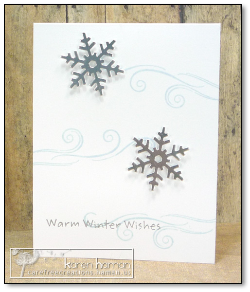 by karen @ carefree creations - Silver Snowflakes