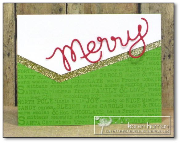 by karen @ carefree creations - Merry Thanks