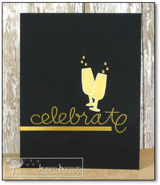 by karen @ carefree creations - Celebrate with Bubbly
