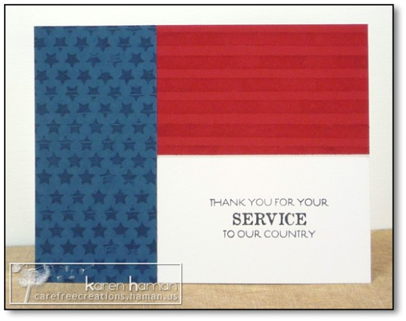by karen @ carefree creations - Military Thank You