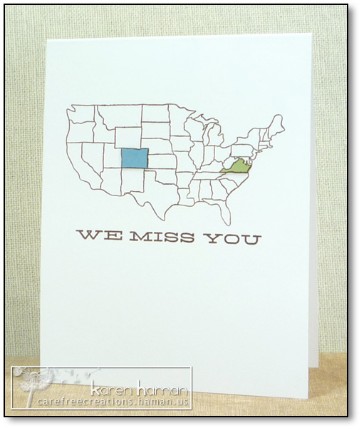 by karen @ carefree creations - Miss You Map