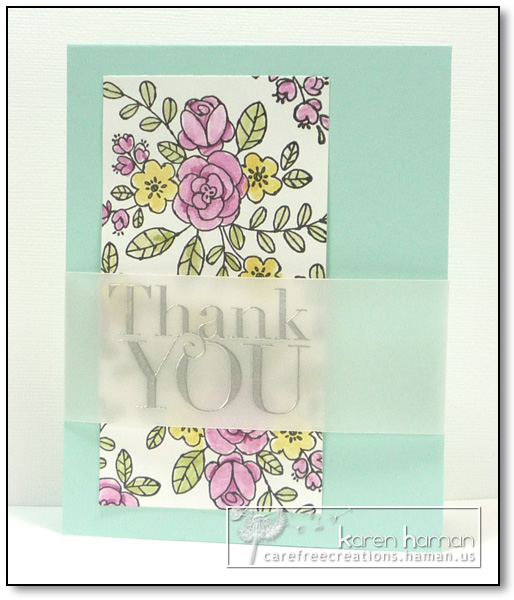 by karen @ carefree creations - Thank You Bouquet