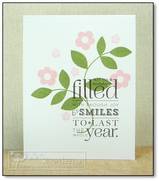 by karen @ carefree creations -  Filled with Smiles