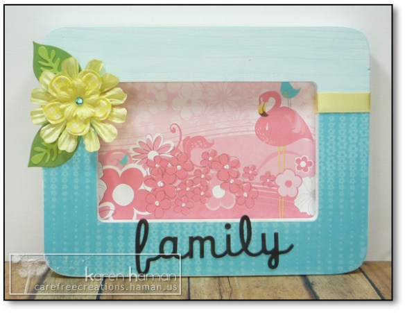 by karen @ carefree creations - Family Photo Frame