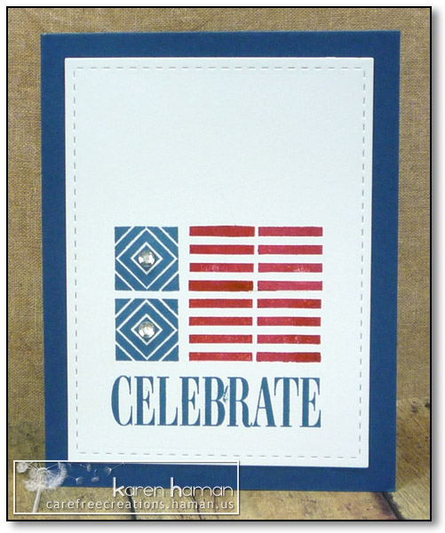 Square Print Flag - by karen @ carefree creations