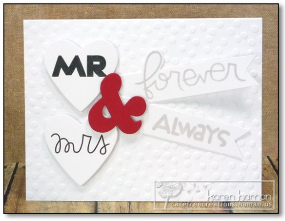 Mr & Mrs - by karen @ carefree creations
