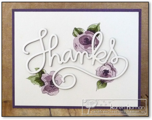 Big Thanks - by karen @ carefree creations