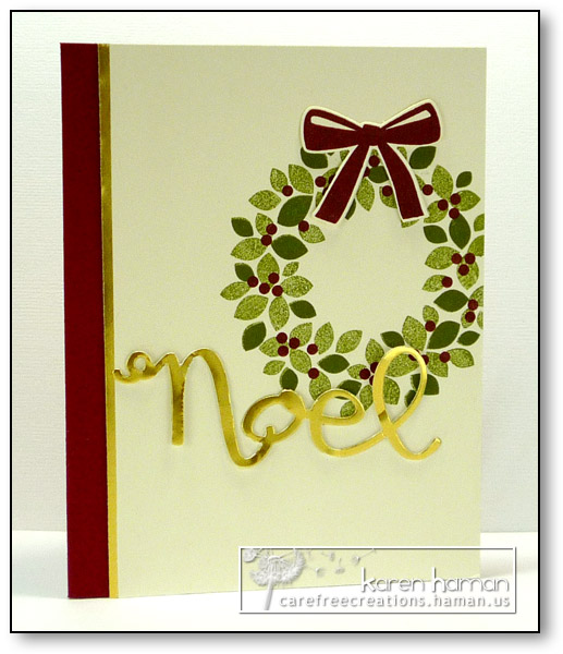 Noel Wreath - created by karen @ carefree creations