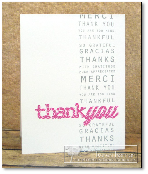 Thank You - by karen @ carefree creations