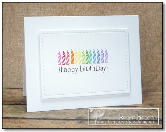 13 Candles - by karen @ carefree creations
