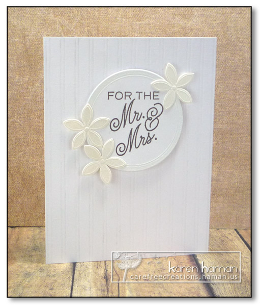 For the Mr & Mrs - by karen @ carefree creations