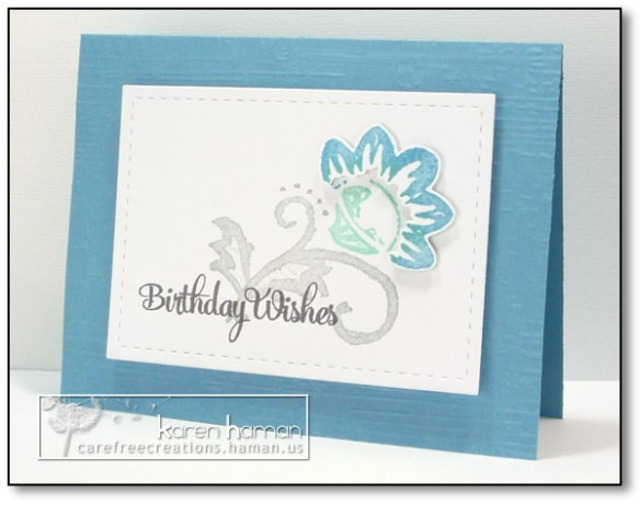 Blue Birthday Flower | by karen @ carefree creations
