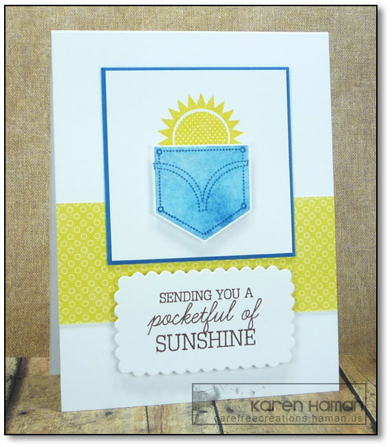 Pocketful of Sunshine | by karen @ carefree creations