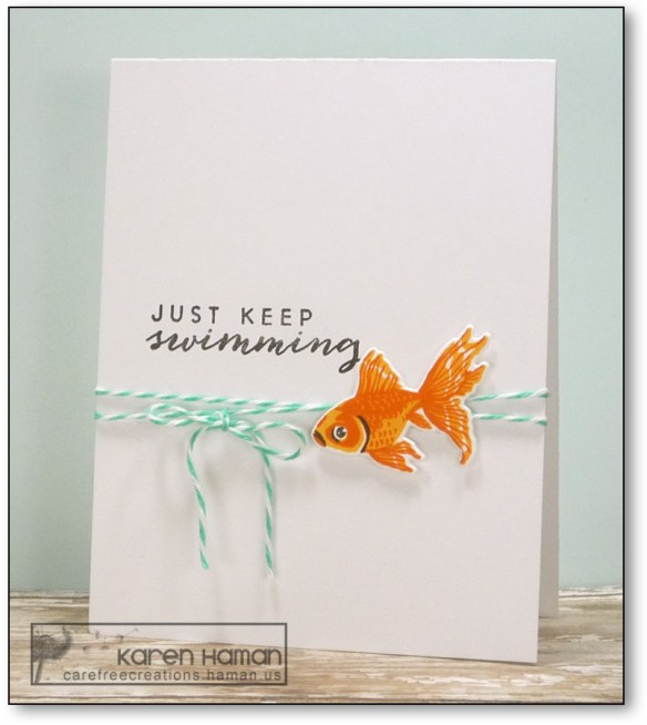 Just Keep Swimming | by karen @ carefree creations