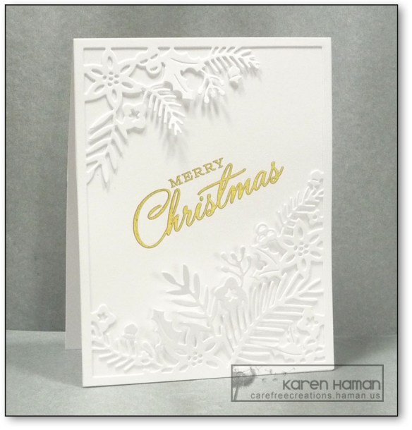 Christmas White Foliage | by karen @ carefree creations