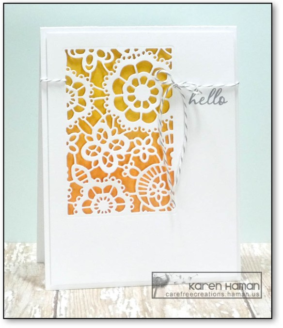 Lacy Hello   by karen h @ carefree creations