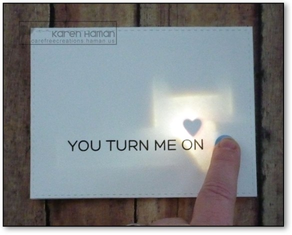 Turn Me On lit up | by karen h @ carefree creations