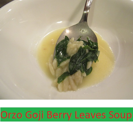 Orzo Goji Berry Leaves Soup Caregiver And Home Cook
