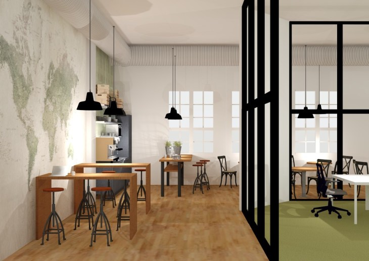 Kahvila WePlus toimisto Kaapelitehdas