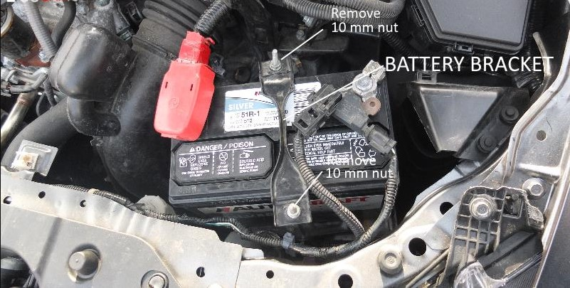 car battery battery bracket