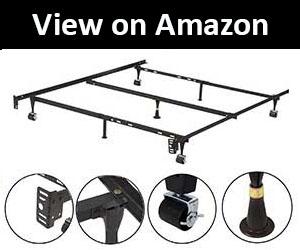 Kings Brand Furniture 7-Leg AdjustableMetal Bed Frame