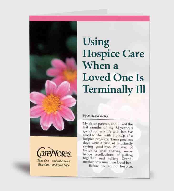 Using Hospice Care When a Loved One is Terminally Ill
