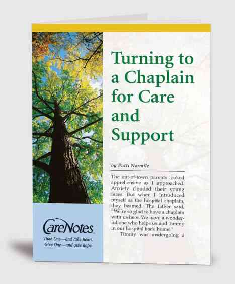 Turning to a Chaplain for Care and Support