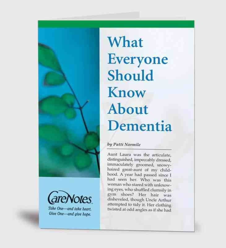 What Everyone Should Know About Dementia