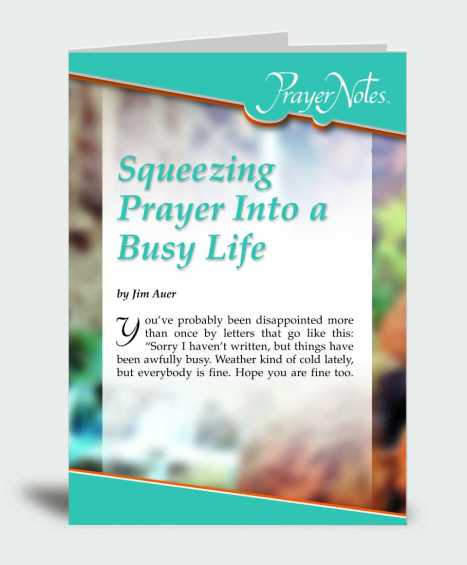 Squeezing Prayer Into a Busy Life