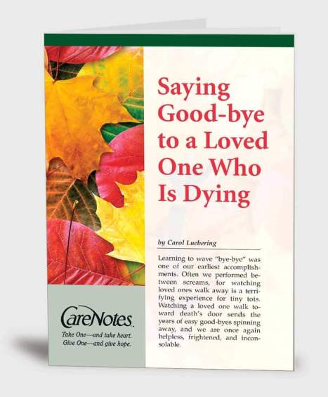 Saying Good-bye to a Loved One Who Is Dying