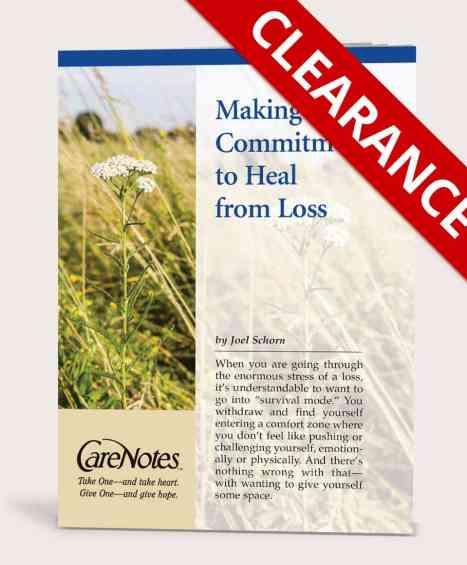 Making a Commitment to Heal from Loss