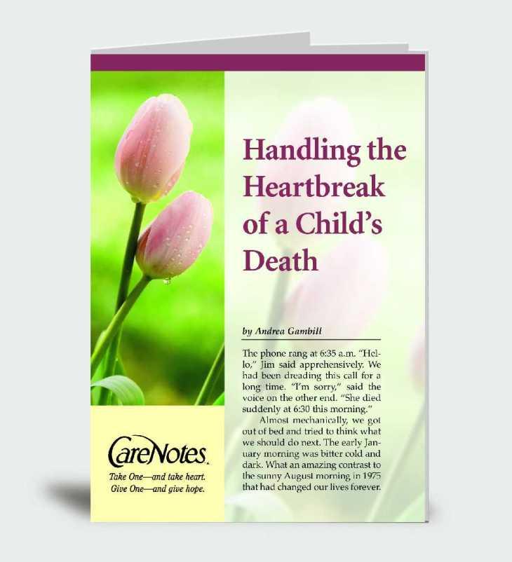 Handling the Heartbreak When a Child Dies