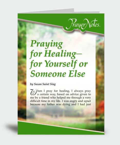 Praying for Healing – For Yourself or Someone Else