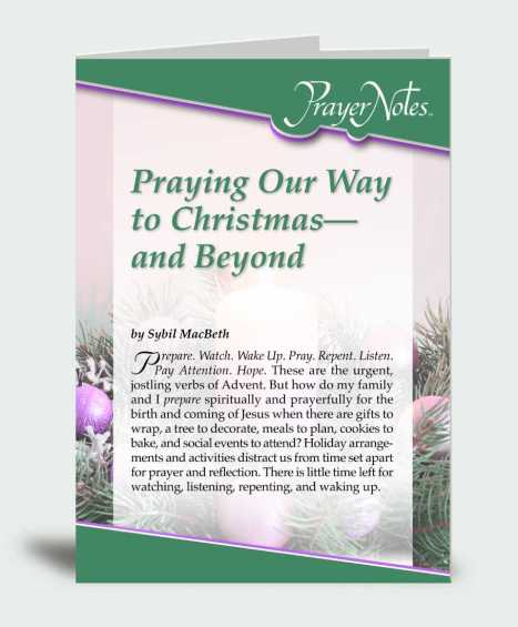 Praying Our Way to Christmas – and Beyond
