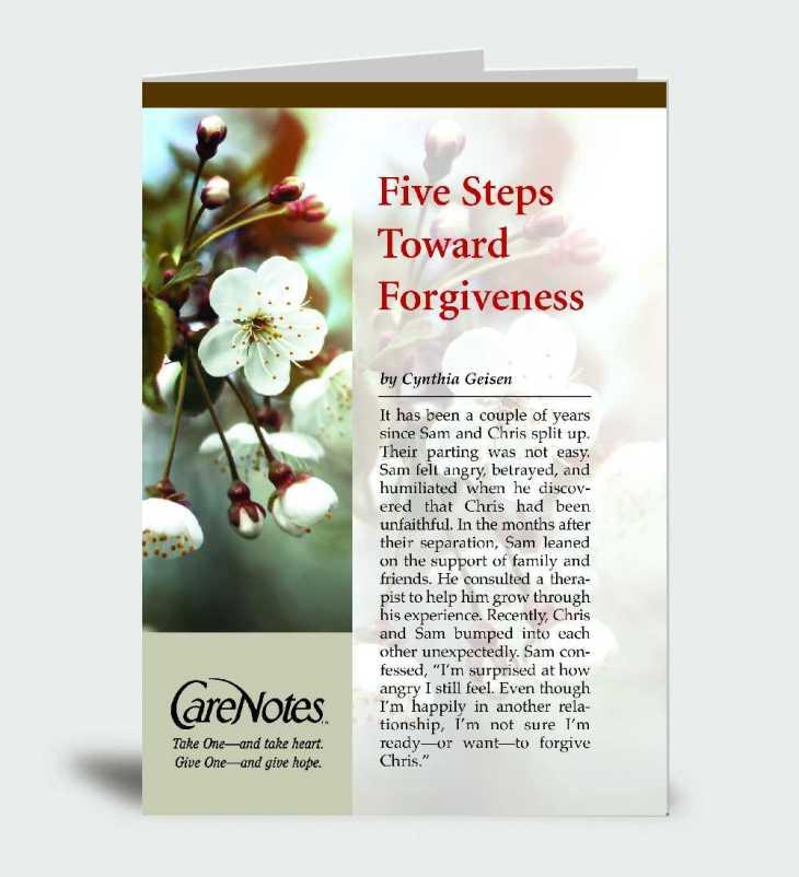 Five Steps Toward Forgiveness