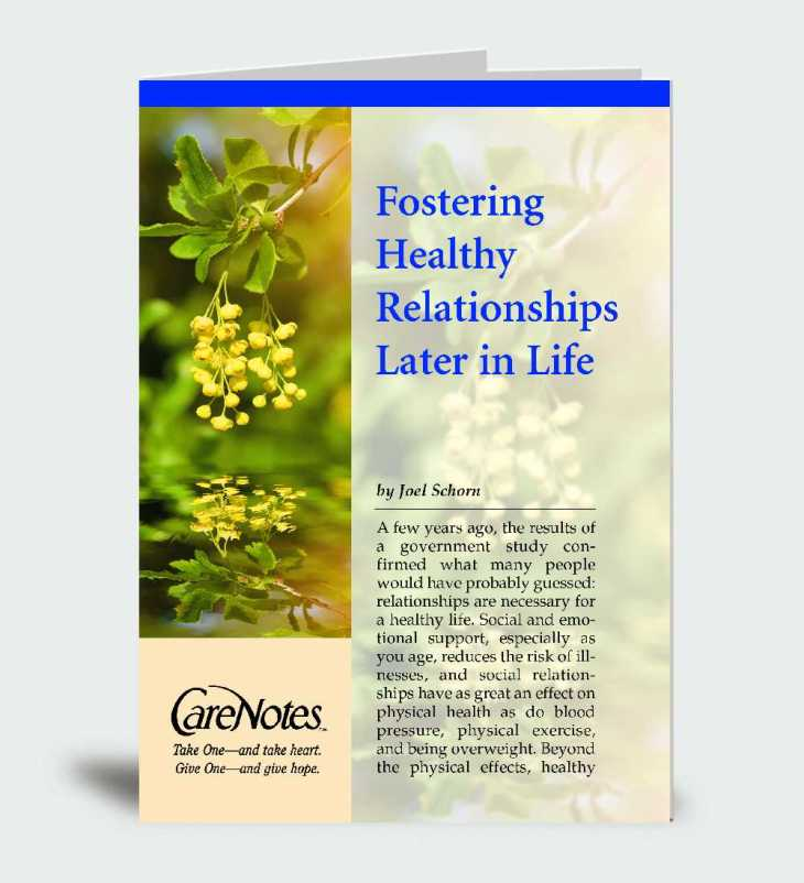 Fostering Healthy Relationships Later in Life