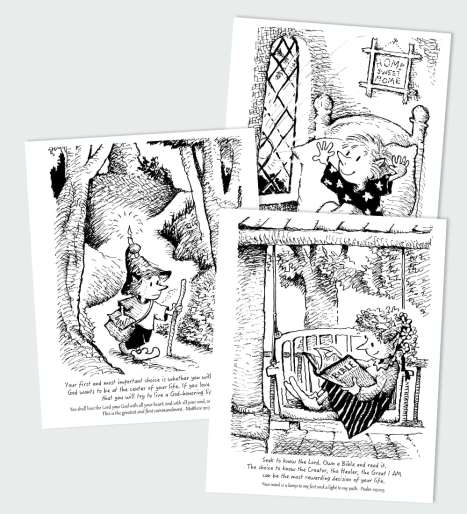 Scripture's Way to Live Each Day Coloring Book
