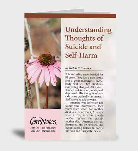 Understanding Thoughts of Suicide and Self-Harm