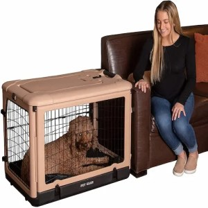 Pet Gear 4 Door Steel Crate with Plush Bed and Travel Bag