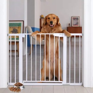 Cumbor 46-inch, Auto-close Safety best dog gates for stairs