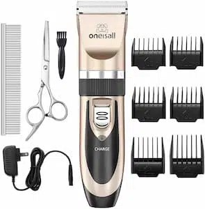 4. Oneisall Dog Shaver Clippers low noise dog clippers