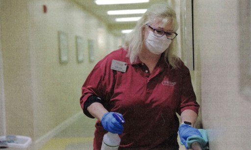 CareSafely in Senior Living Executive   Healthcare Worker Cleaning Facility