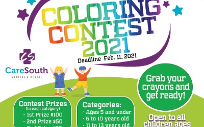 National Children's Dental Health Month Coloring Contest 2021 Winners!