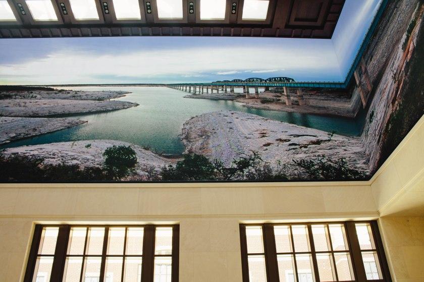 Bush Library ceiling