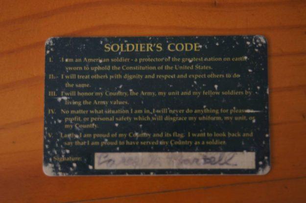 soldier card
