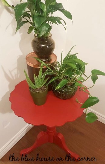 Red Accent Table 12